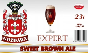 GOZDAWA EXPERT SWEET BROWN ALE 23L 3,4kg