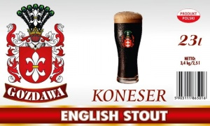 GOZDAWA KONESER ENGLISH STOUT 23L 3,4kg