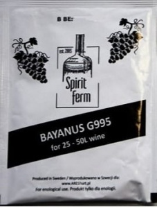 Drożdże winiarskie  Bayanus G995 do 18% SpiritFerm