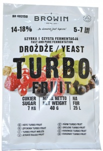 BROWIN TURBO FRUIT drożdże do owoców 14-18% 7dni