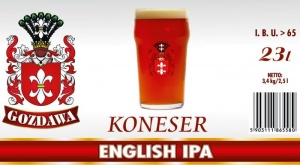 GOZDAWA KONESER ENGLISH IPA 23L 3,4kg